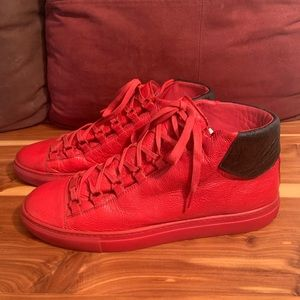 Authentic Balenciaga Arena High Red/ Blk Sneakers